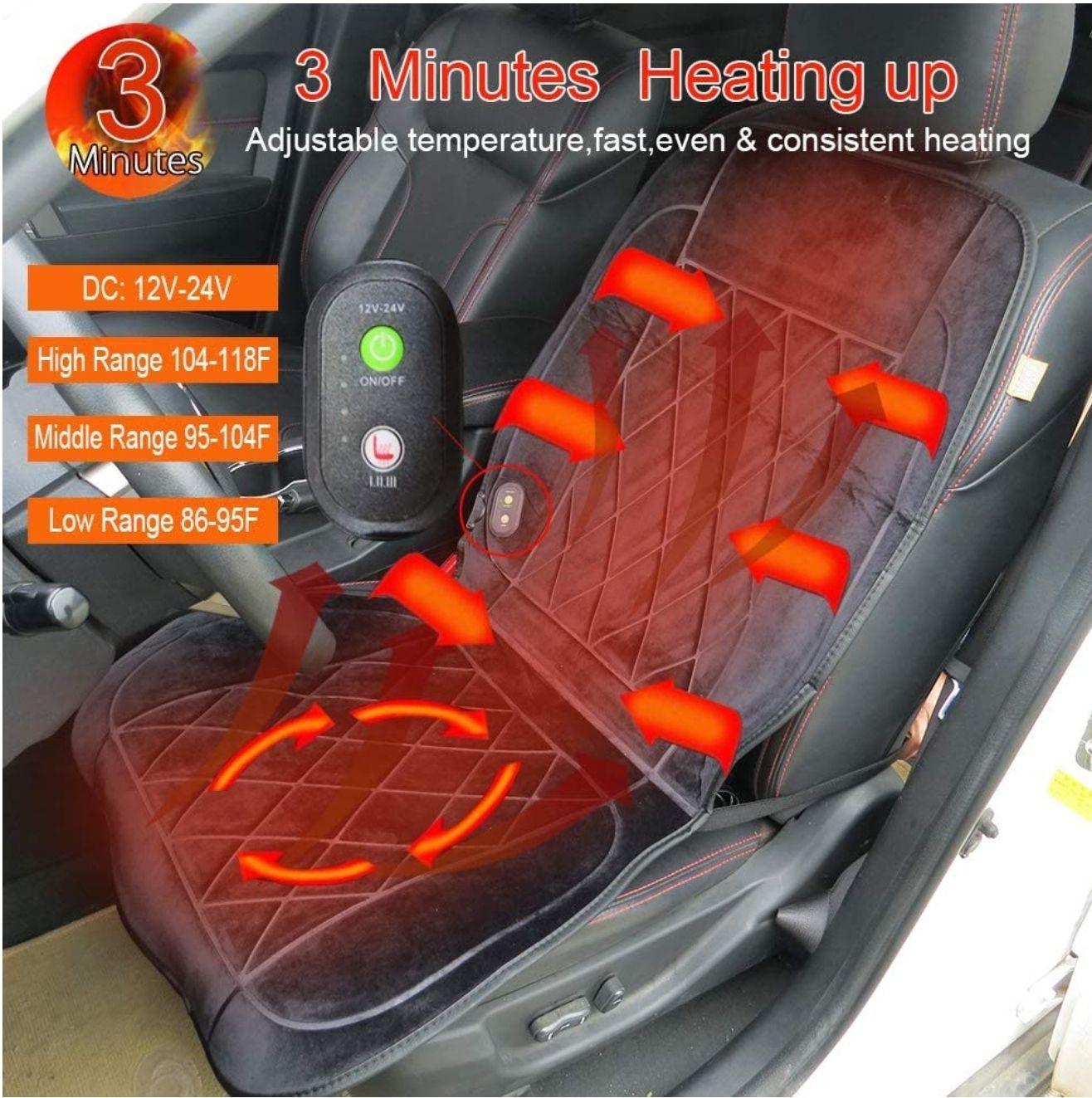 Calentador de asiento de coche con calefacción