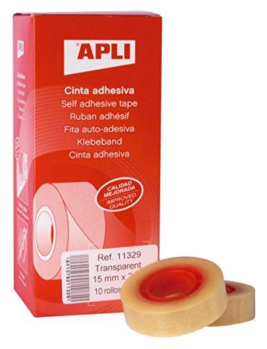 Caja 10 uds cinta adhesiva APLI por solo 0,54€ (PRODUCTO PLUS)