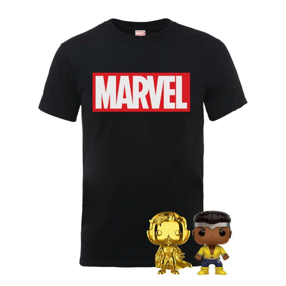 Pack Marvel: Camiseta + 2 Funko Pop! 16.99€