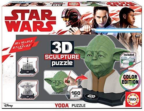 Puzzle 3d Yoda versión color
