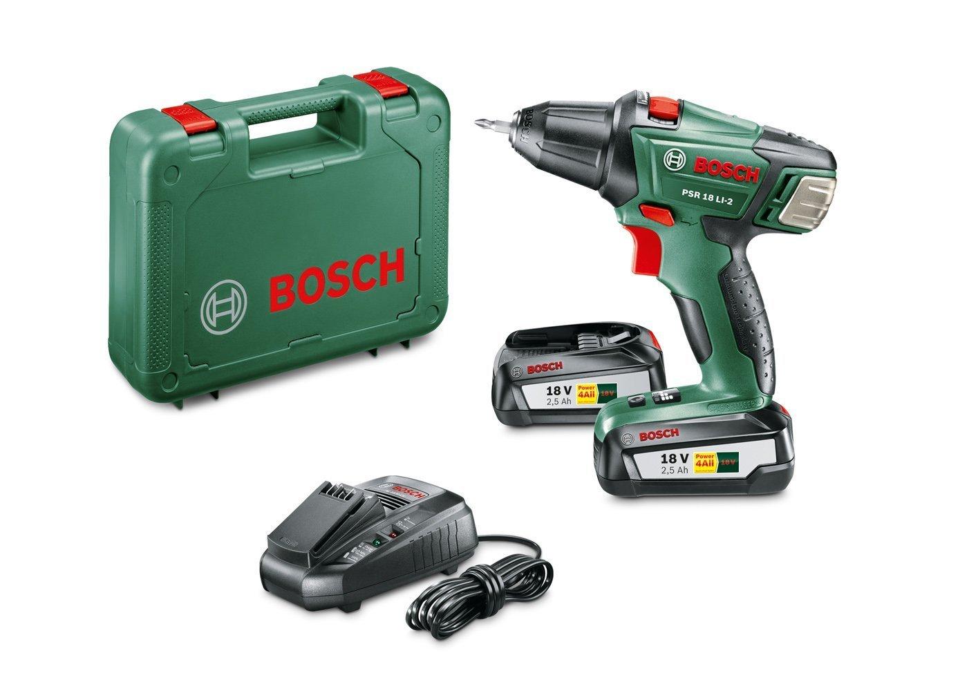 Taladro y atornillador Bosch 2 baterias 18 V