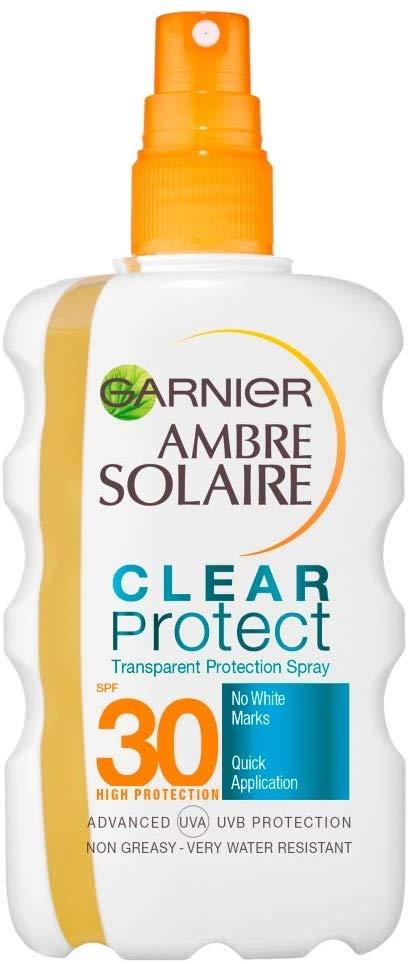 Crema de protección solar Ambre Solaire transparente SPF 30 Garnier 200ml