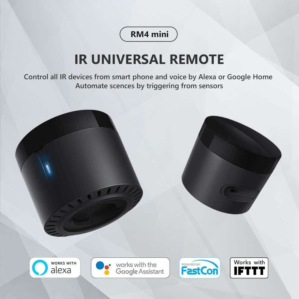 Broadlink - RM4 Mini - Mando a Distancia Universal Compatible con assistentes de voz