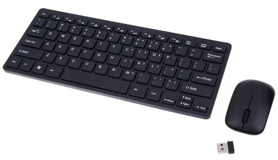 MINI Teclado Inalambrico sin Cable + funda protectora teclado + ratón Inalambrico + receptor USB.