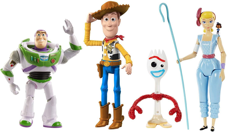 Mattel Disney Toy Story 4 Pack de 4 Figuras Básicas de La Película