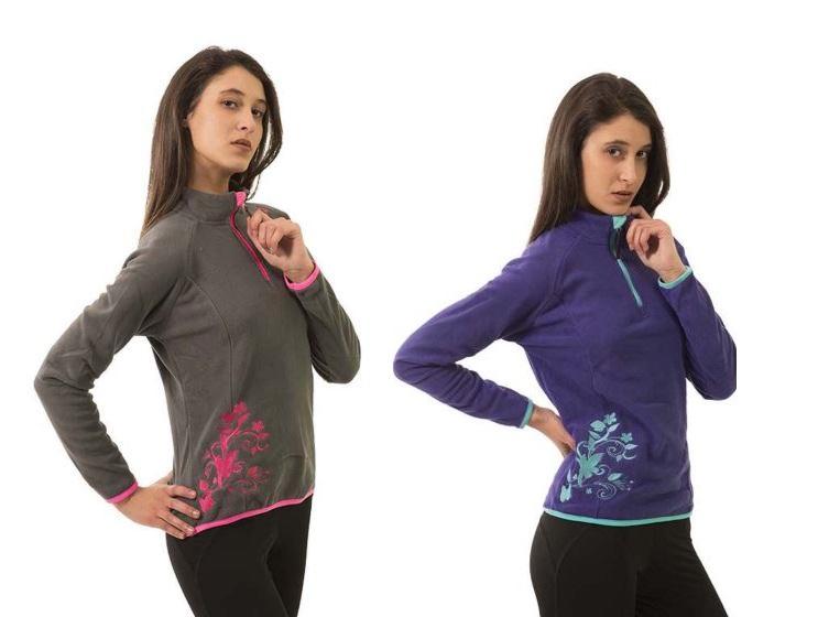 ROX FORRO POLAR ONEGA para mujer 2 colores bordado.
