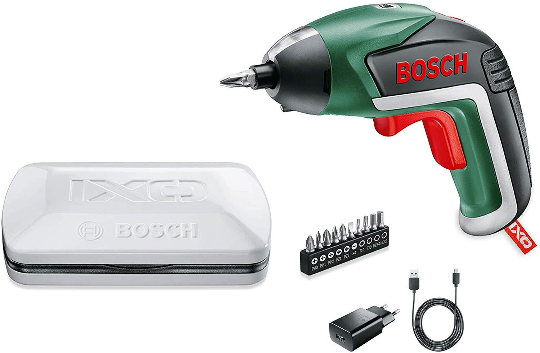Destornillador Bosch IXO Básico + 10 puntas / cargador / caja