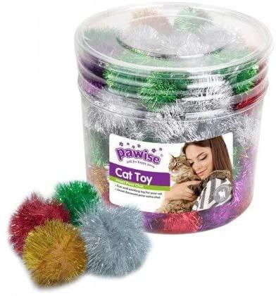 72 unidades de cubo de pompón juguete para gatos