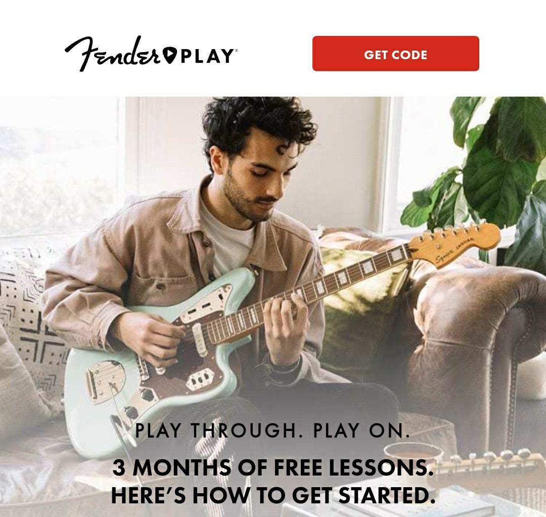 3 meses gratis en Fender Play. Aprende a tocar la guitarra con los mejores
