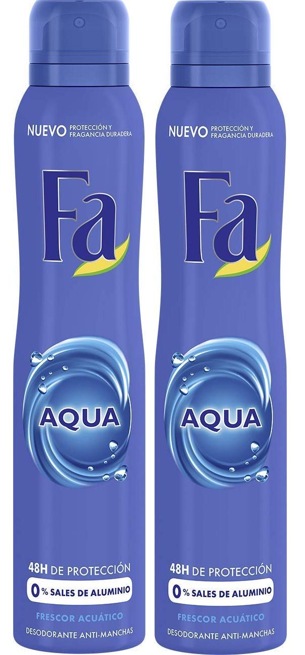 2 botes de desodorante FA de 200ml c/u