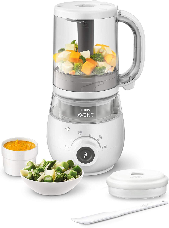 Philips Avent SCF883/01 - Procesador de alimentos para bebé 4 en 1