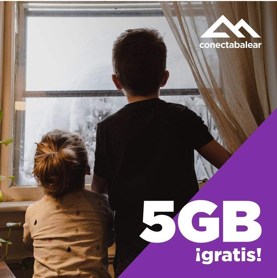 Bono 5GB de datos. Para clientes de conectabalear.