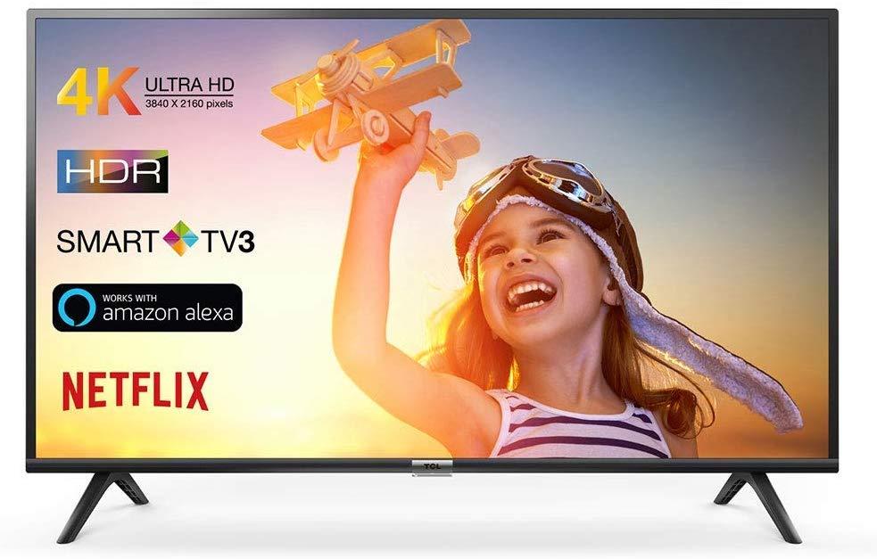 """TV TCL 65"""" Smart TV 4K Ultra HD Con Alexa incorporado"""