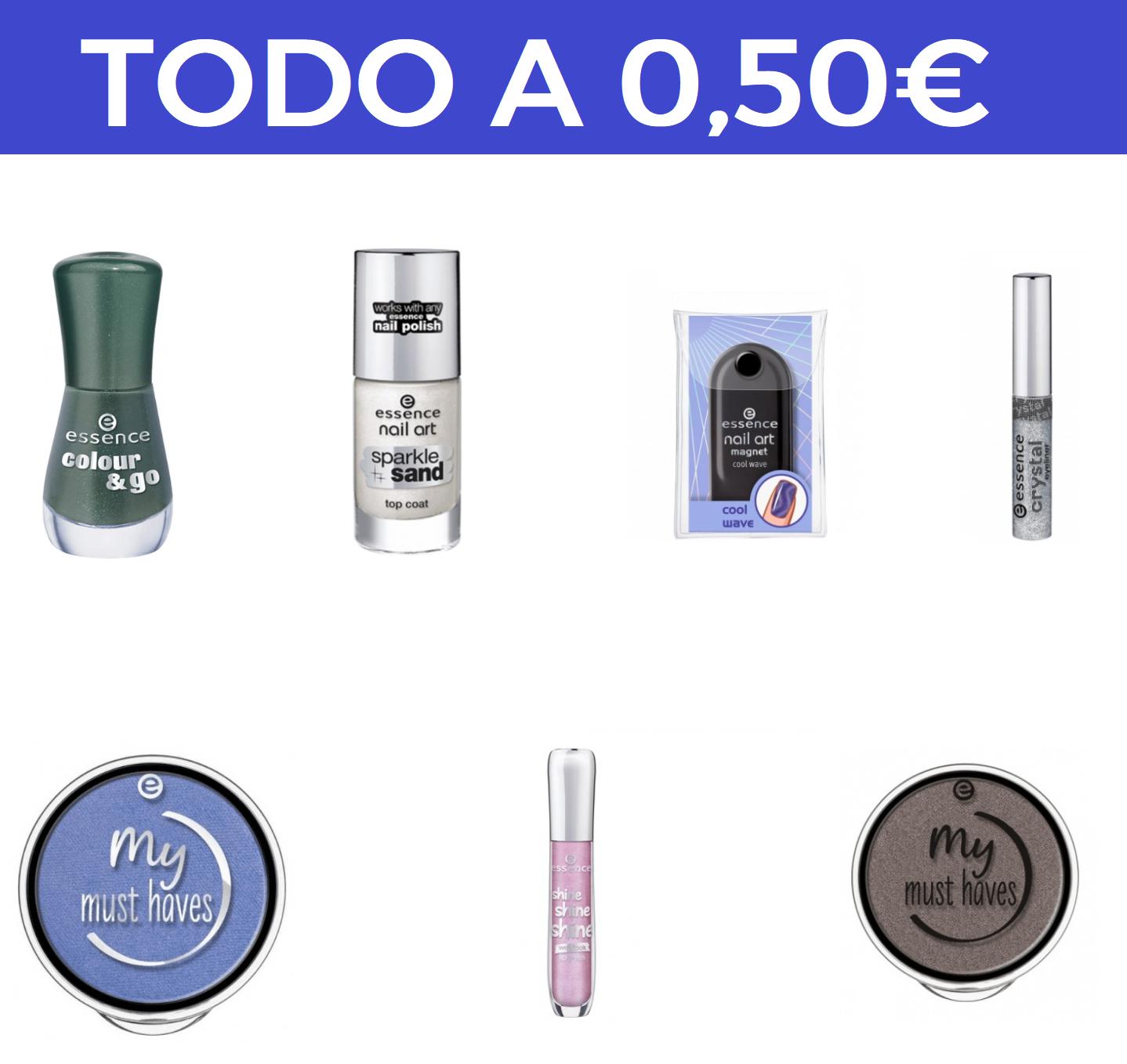 Productos de ESSENCE por 0.5€ y envío gratis!!!