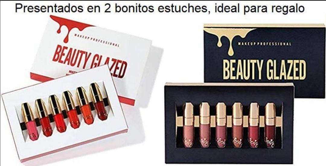 (PRECIO MÍNIMO HISTÓRICO) - RECOPILACIÓN De labiales Beauty Glazed.(Caja con 6 unidades)