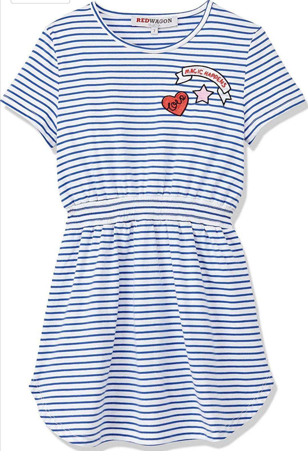 Vestido de Rayas para Niñas 100% Algodón.