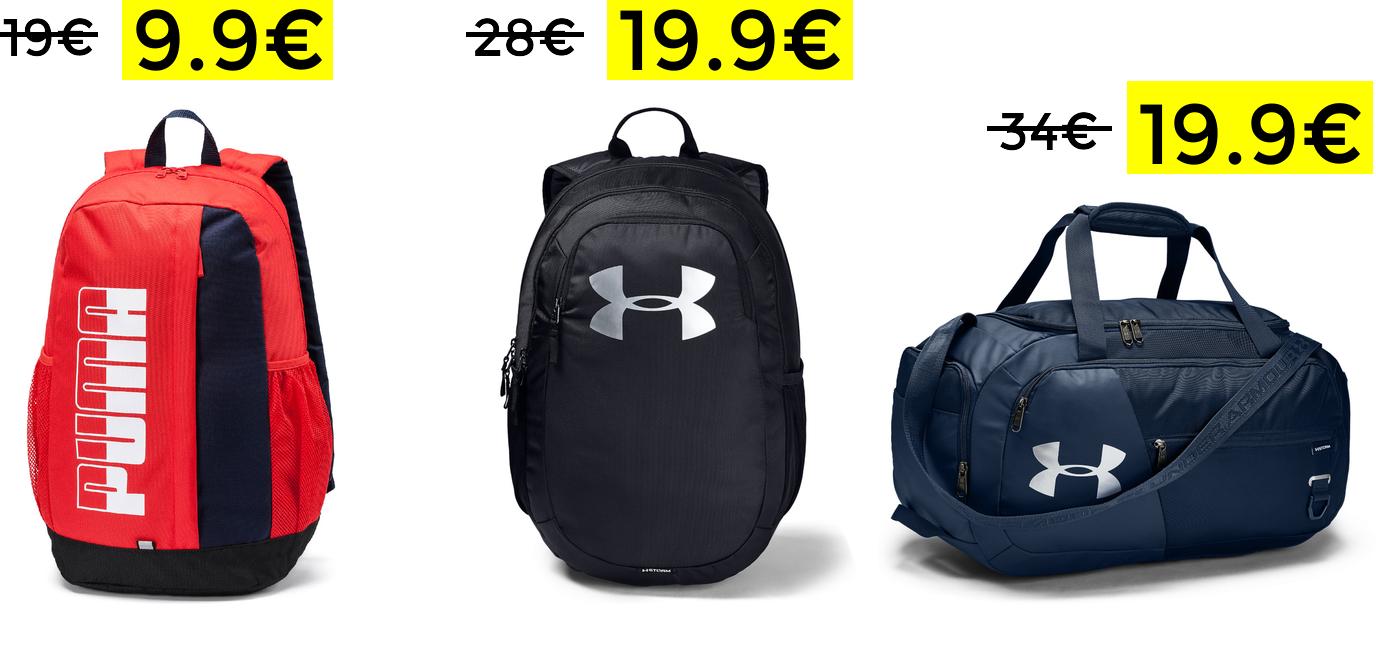 Descuentos de hasta el 50% en mochilas y bolsos deportivos