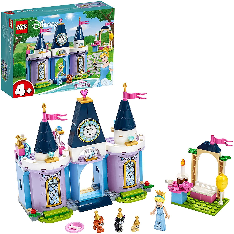 LEGO Disney Princess - Fiesta en el Castillo de Cenicienta, Set de Construcción con Castillo de la Película, Princesa Disney, para +4 Años
