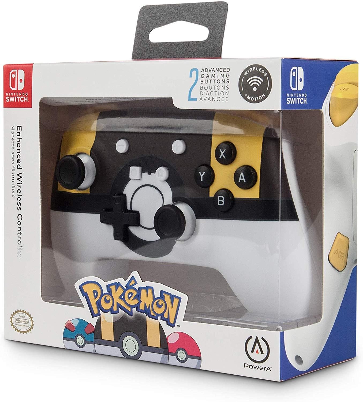 PowerA - Mando inalámbrico mejorado Pokémon Ultra Ball mínimo histórico