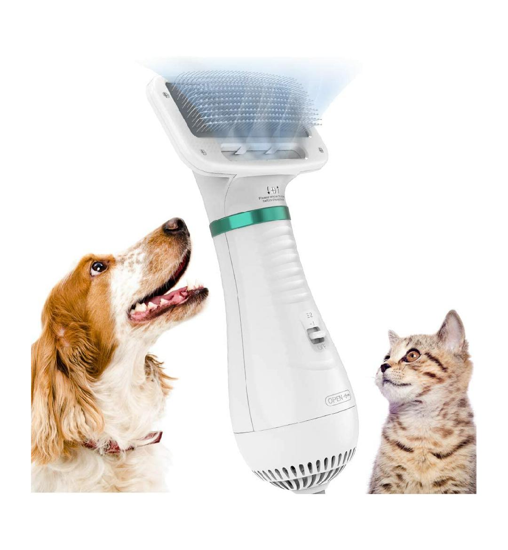Cepillo y secador eléctrico para mascotas