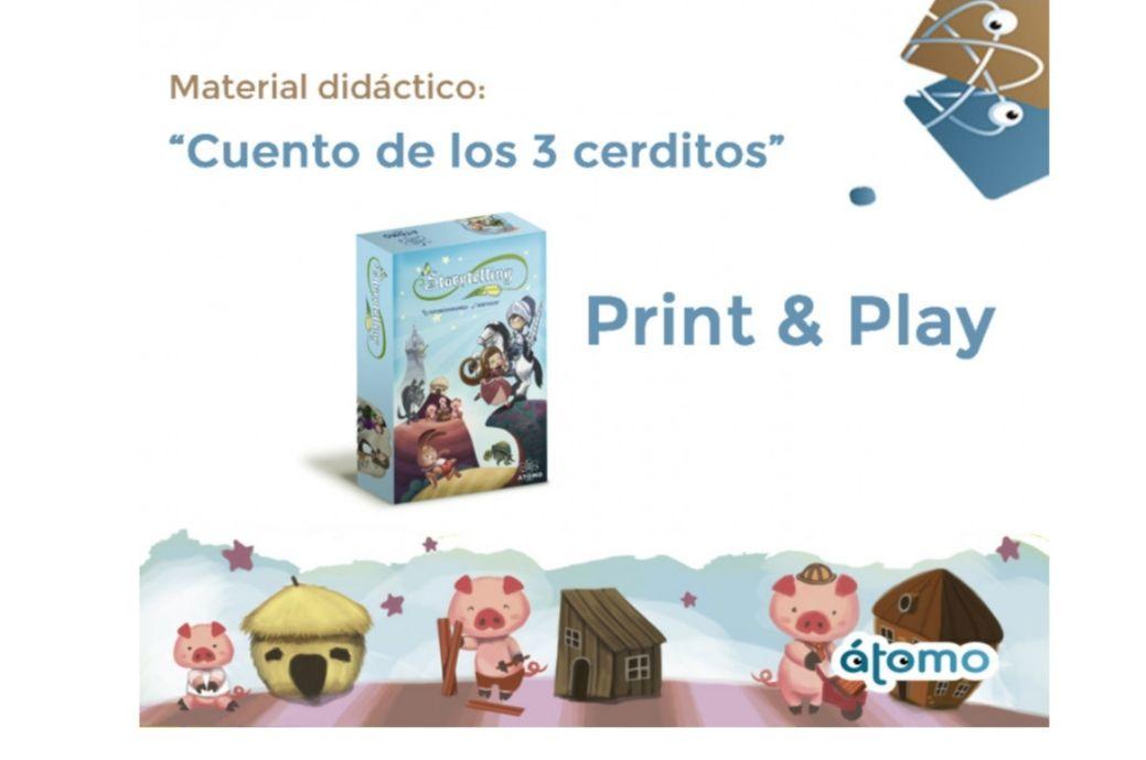 Los 3 Cerditos. Juego Print & Play infantil