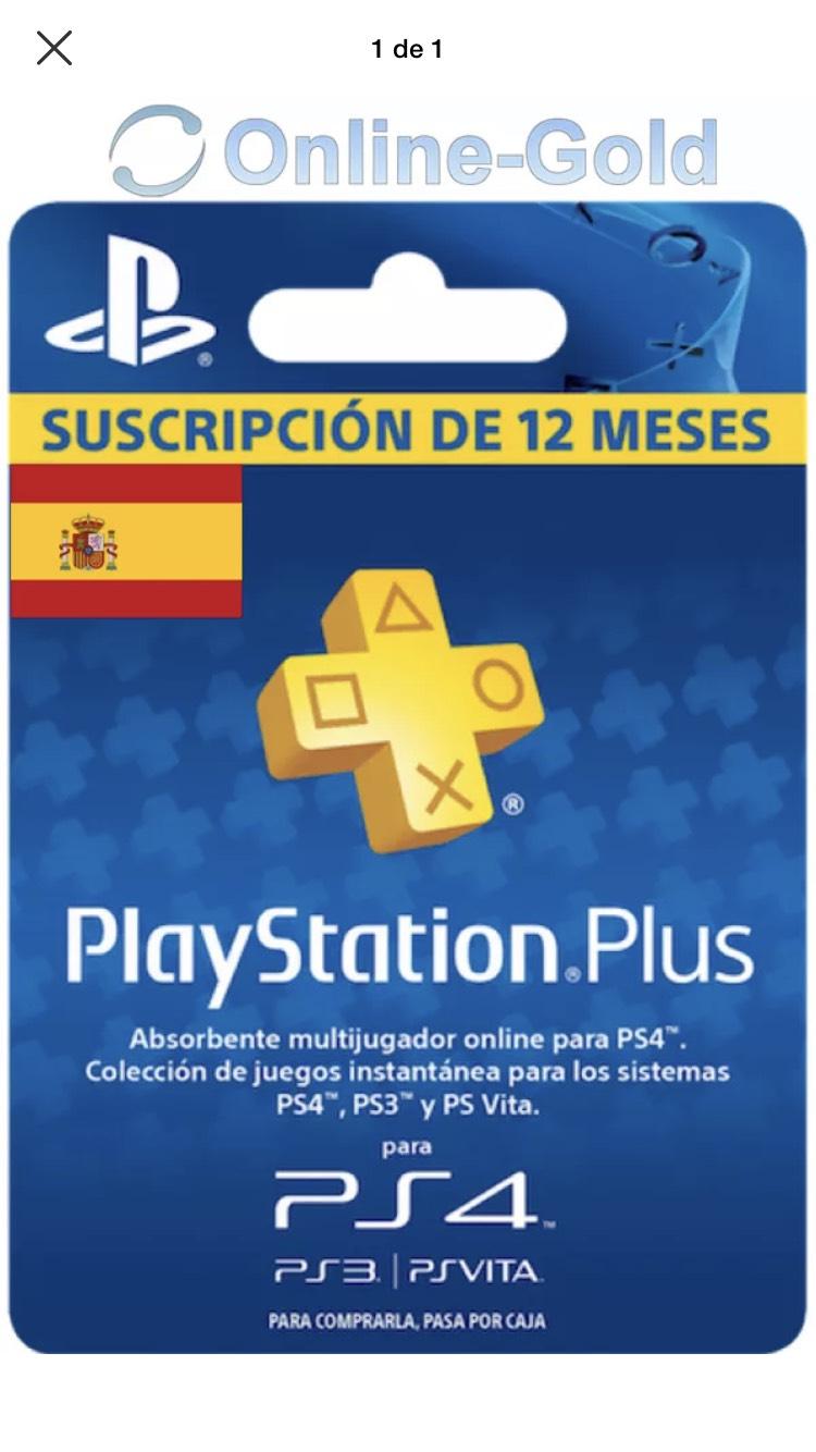 PS Plus 1 Año por solo 40.99€