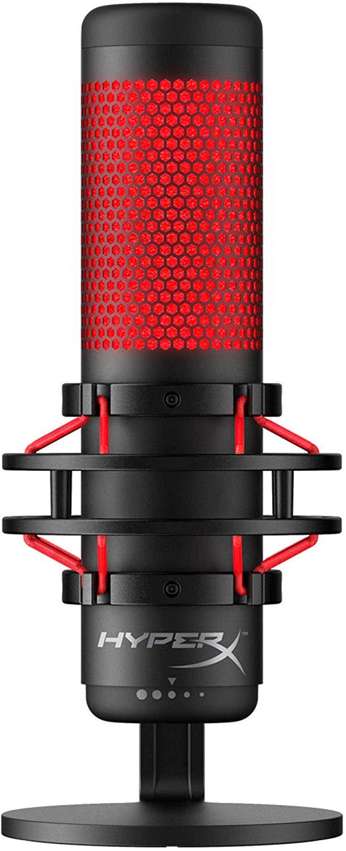 HyperX QuadCast Microphone Negro, Rojo