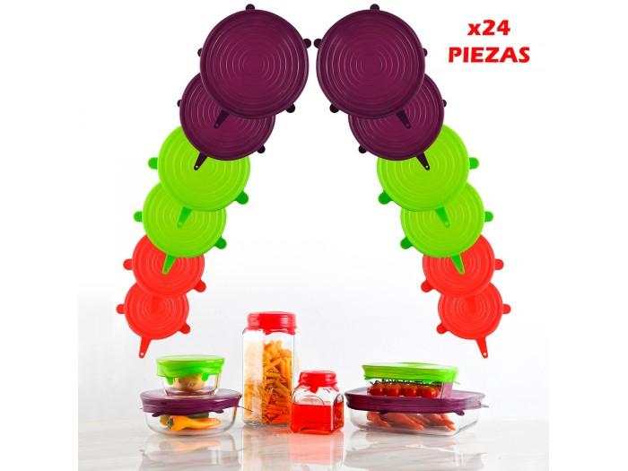 Tapas de silicona para platos y cacerolas