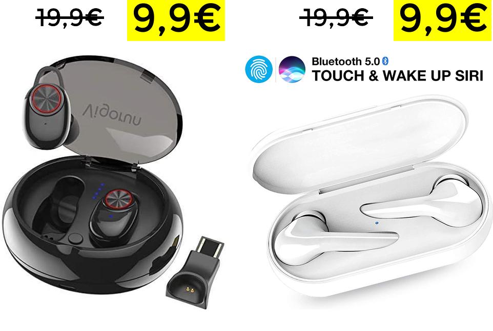 Auriculares Bluetooth con Estuche de carga solo 9.9€
