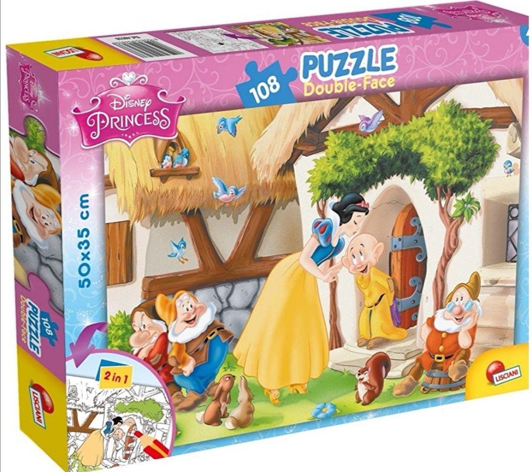 Puzzle double face plus Blancanieves o Cenicienta. 108 Piezas.
