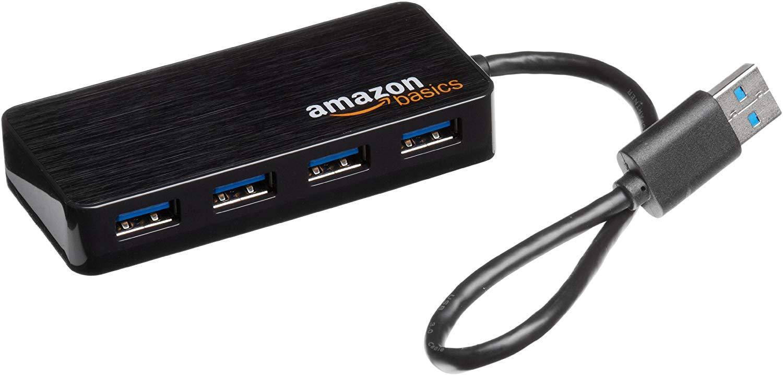 AmazonBasics - Hub USB 3.0 de 4 puertos