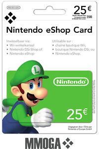 25€ Nintendo eShop Tarjeta Prepago