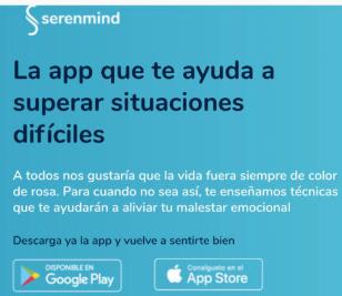 Serenmind ofrece gratis su app para afrontar problemas psicológicos ante el coronavirus