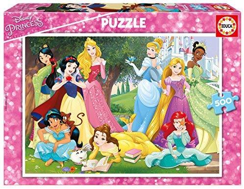 500 piezas puzzle princesas Disney educa