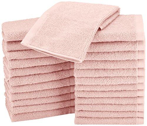 AmazonBasics Paños de algodón (30,5 x 30,5 cm), pack de 24