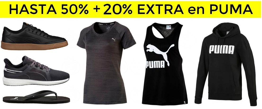 Hasta 50% + 20% EXTRA en el Outlet de Puma