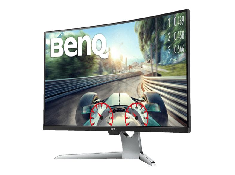 "Monitor Curvo - BenQ EX3203R, Gaming, 31.5"", QHD 2K 144 Hz HDR, HDMI, USB-C, Negro y Gris"