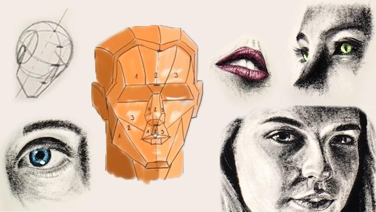 Curso: Dibujo de cabeza + Dibujo de retrato (inglés)