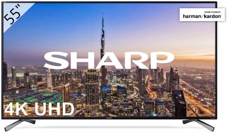 """Smart TV Sharp 55"""" resolución 3840 x 2160"""