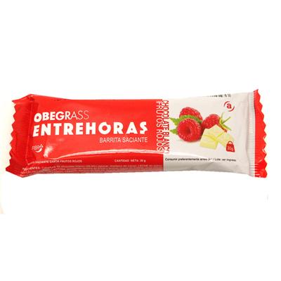 Obegrass Entrehoras Barrita Saciante 30g varios sabores a elegir Portes gratis sin minimo