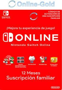 Suscripción familiar Nintendo Switch Online por 24,69 € (en la descripción suscripción individual)