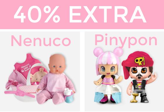 Hasta 40% + 40% EXTRA en Pinypon y Nenuco