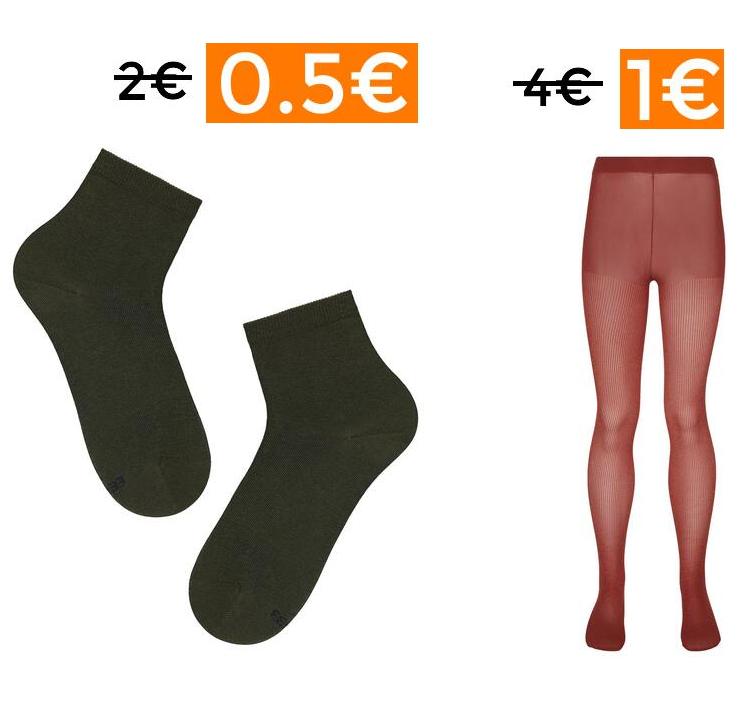 Calcetines desde 0.5€ y panties de 1€ para niñas