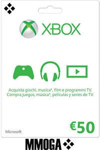 50 Euro Xbox Live Tarjeta Regalo