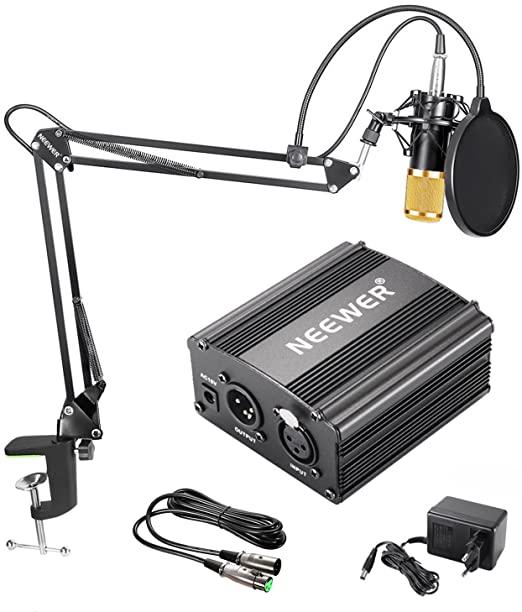 Neewer NW-800 Kit de Micrófono de Condensador de oro