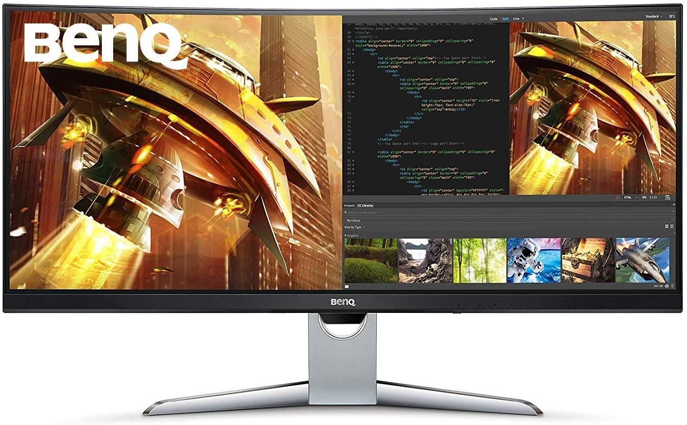 Monitor Curvo EX3501R Gaming Ultra WQHD 100Hz 21:9, FreeSync Displayport