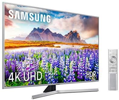 "Samsung 4K UHD 2019 - Smart TV de 65"" [serie RU7400] Wide Viewing Angle, HDR (HDR10+) Premium One Remote, Apple TV y compatible con Alexa"