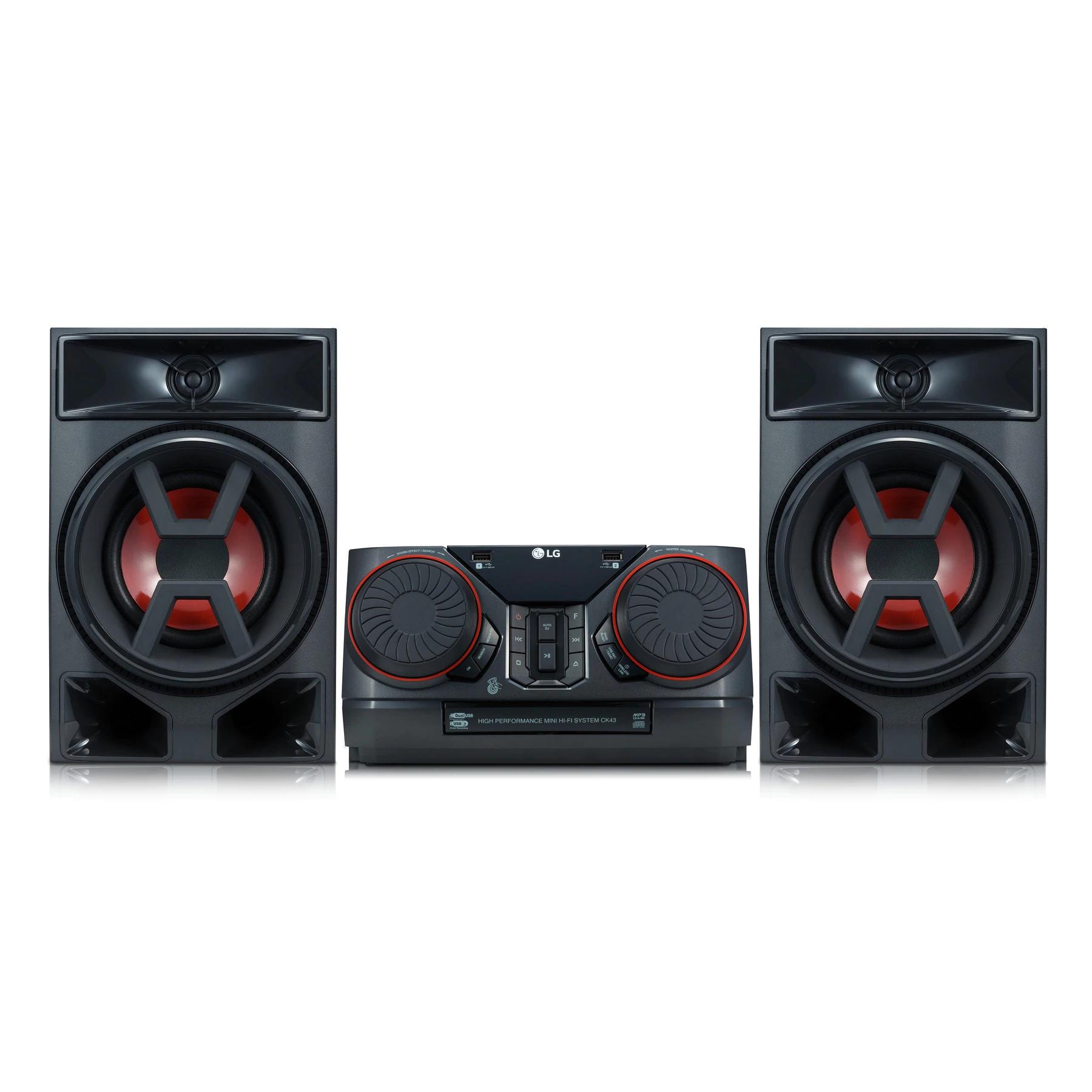 LG XBOOM CK43 - Equipo de Sonido Alta Potencia, 300W (Aliexpress Plaza)