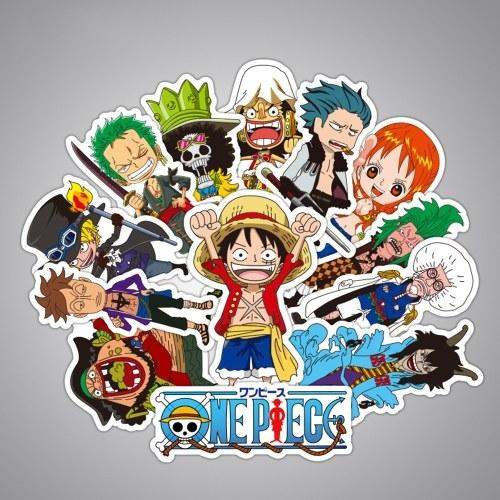 48 pegatinas One Piece