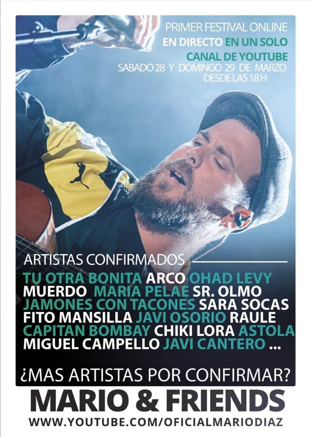 Festival online gratuito Mario Diaz&Friends